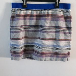 NWOT GAP Blue Tribal Print Mini Skirt